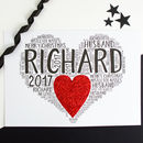 Personalised Husband Boyfriend Christmas Heart Card