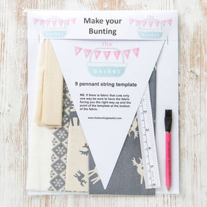 Reindeer Make Your Own Bunting Kit - what's new