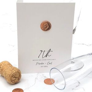 7th Copper Personalised Wedding Anniversary Card