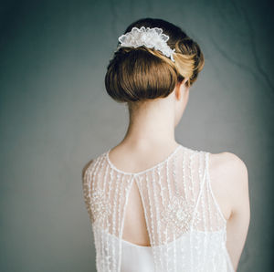 3D Embellished Lace Bridal Hair Comb 'Enchanted' - bridal hairpieces