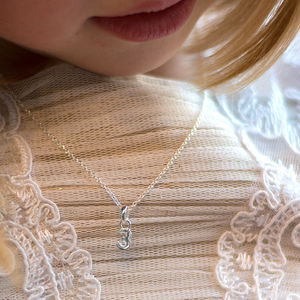 Girls Little Silver Number Necklace