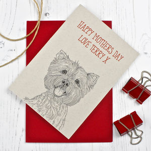 West Highland Terrier Mothers Day Card - mother's day cards