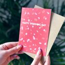 'Happy Wedding Day' Congratulations Terrazzo Card