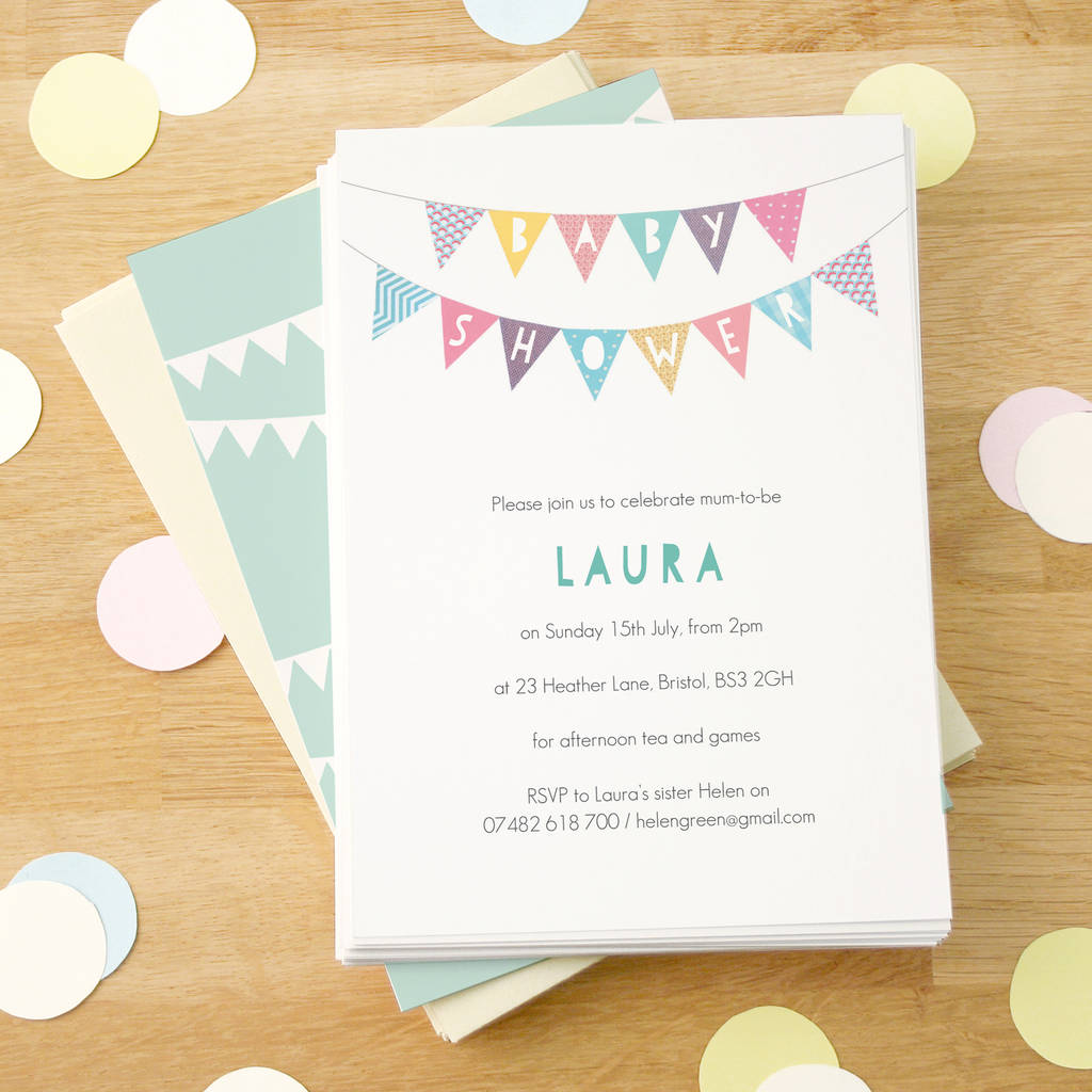 Baby shower invitations notonthehighstreet personalised baby shower invitations filmwisefo