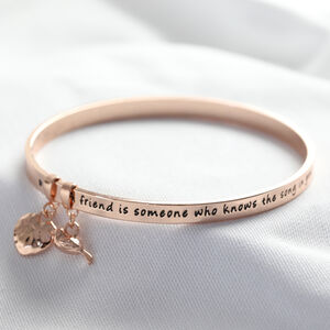 'Friend' Meaningful Word Bangle