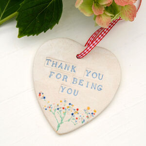 Thank You For Being You Ceramic Hanging Heart