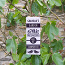 Personalised Gardening Sign