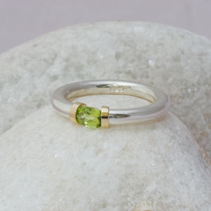 Tension Ring With Peridot - women's jewellery