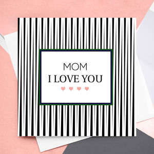 Personalised I Love You Greeting Card - mother's day cards