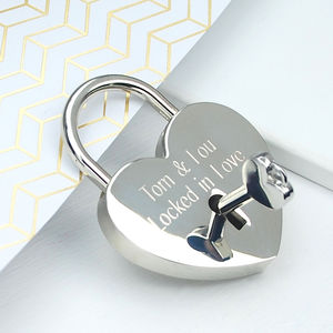 Personalised Locked In Love Padlock - gifts for her