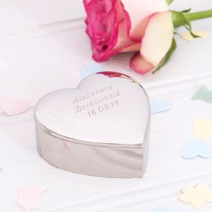 Personalised Heart Trinket Box - storage