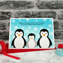 'Penguins' Christmas Card For Parents Or Grandparents