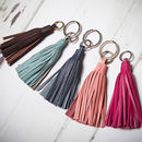 Leather Tassel Key Ring