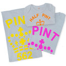 Family Pint / Half Pint T Shirt Mum Dad And Child