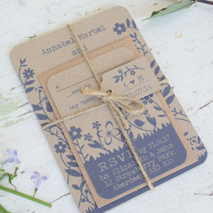 Countryside Wedding Invitation Bundle - invitations