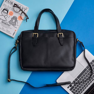 Classic Leather Laptop Bag - men's accessories