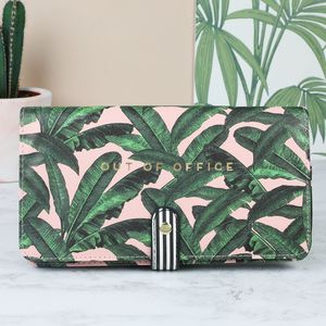 Botanical 'Out Of Office' Travel Document Wallet