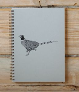 Pheasant A5 Spiral Bound Notebook - writing