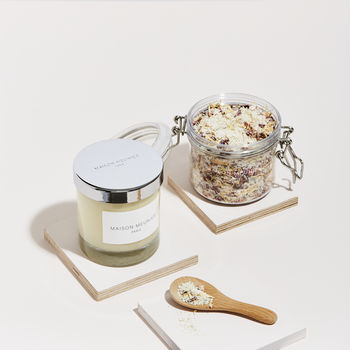 Bath Salts And Candle Pamper Set