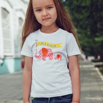 Personalised Children's Elephant T Shirt