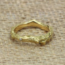 3mm Court Profile 18ct Gold Diamond 'Tweed' Ring