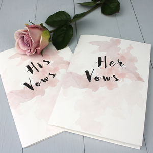 Personalised Wedding Vow Booklet - spring styling