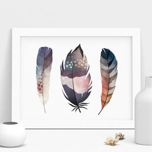 Feather Watercolour Print