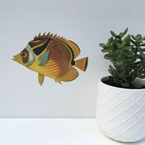 Yellow Fish Wall Sticker - decorative accessories