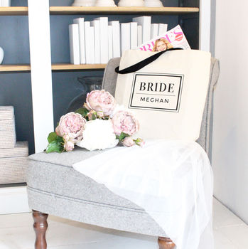 Personalised 'Bride' Wedding Tote Bag
