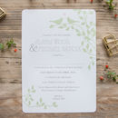 Love Birds Wedding Stationery