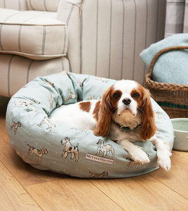 Dog Print Donut Dog Bed