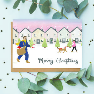Christmas Postman Card - cards & wrap