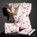 Pink Flamingo And Pineapple Tote Bag