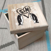 Penguin Couple's Keepsake Box - christmas