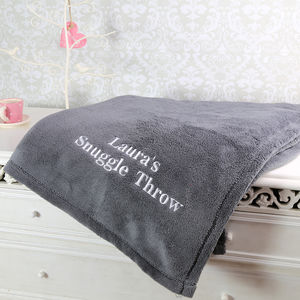 Personalised Snuggle Blanket - bedding & accessories