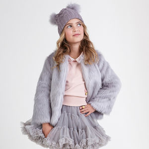 Angel's Face Faux Fur Coat