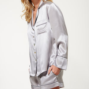Women's Short Silk Pyjama Set - best gifts for her