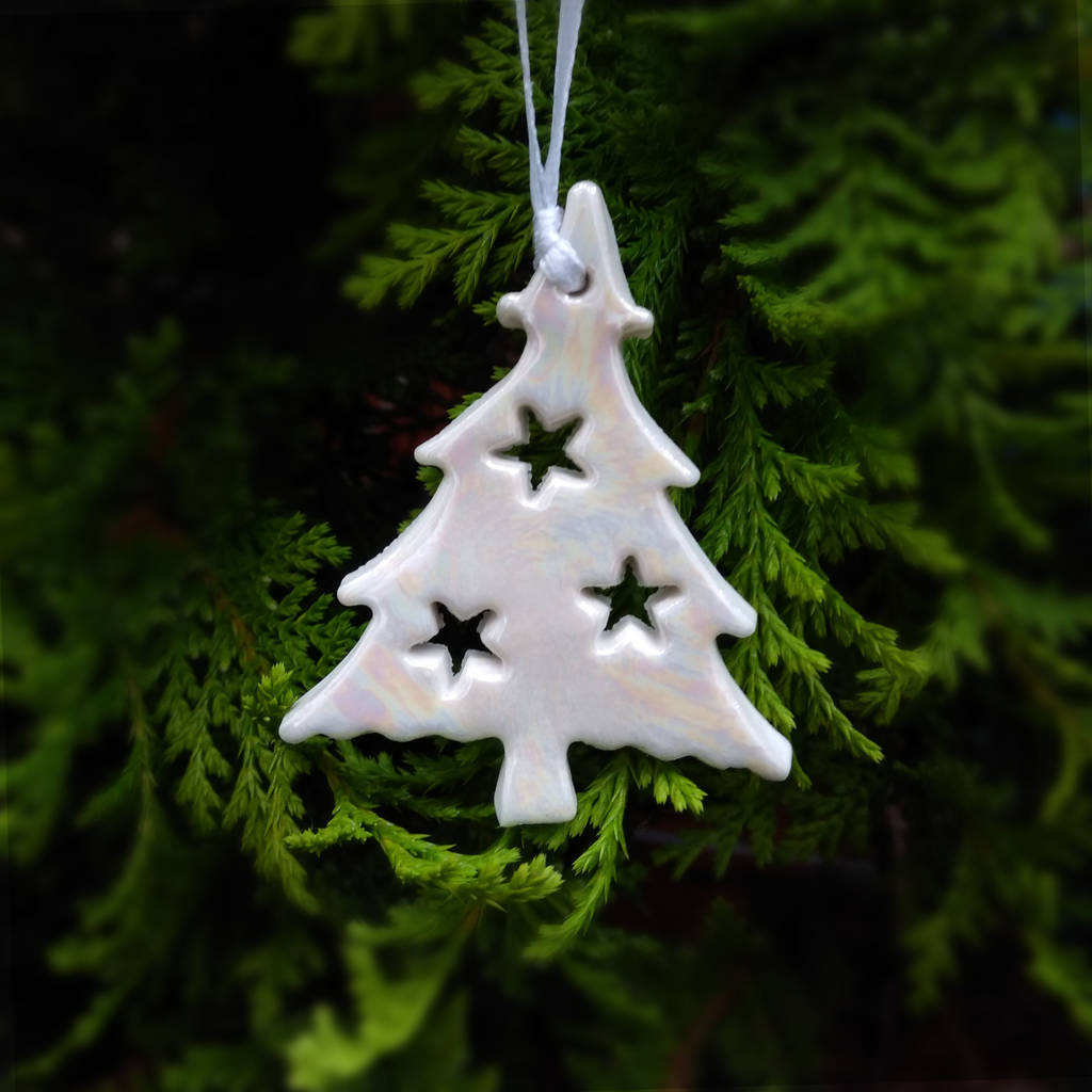 Ceramic Christmas Tree Decorations.Handmade Christmas Tree Decoration
