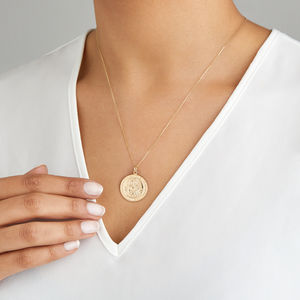 Large Gold Or Silver St Christopher Pendant Necklace - our top new picks