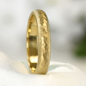 4mm Hammered Ring In Ethical 18ct Gold