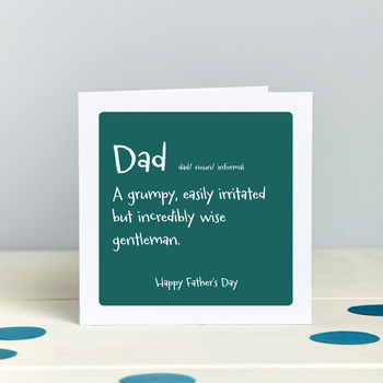 Father's Day: Grumpy But Wise Humourous Card
