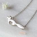 Silver Solid Fox Necklace