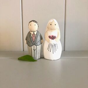 Wooden Handmade Wedding Bride And Groom