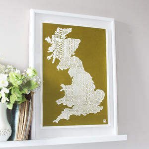 Footpaths Map Print - summer sale