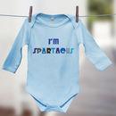 Blue 'I'm Spartacus!' film quote babygrow