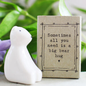 A Little Bear Hug In A Matchbox Gift