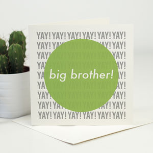 New Baby Card For Big Brother