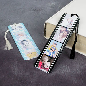 Personalised Photo Metal Book Mark Photograph Film Reel - desk accessories