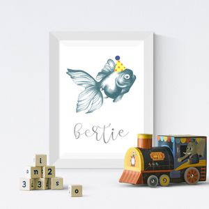 Personalised Illustrated Fish Print