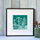 Turquoise small print